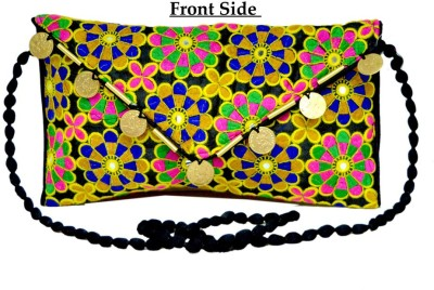 Amazing India Women Party Black  Clutch