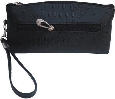 Modish Party Black Leatherette  Clutch
