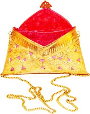 Ruhmet Women Casual, Party, Wedding Gold, Pink  Clutch