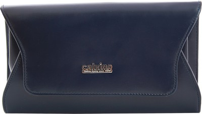 Calvino Women, Girls Casual, Formal Blue  Clutch