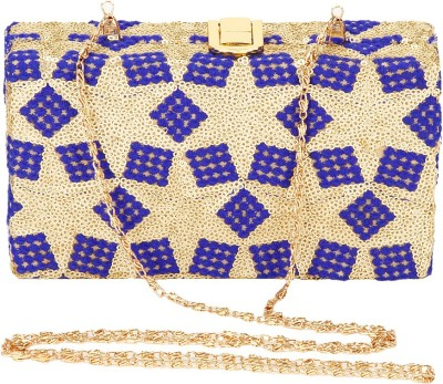 Eira Blue, Gold  Clutch