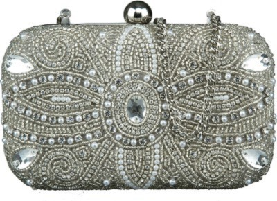 Paint Party Silver  Clutch