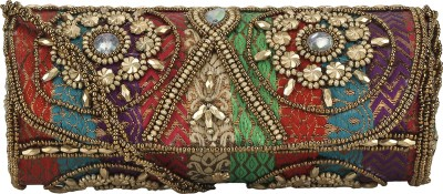 Bling It On Casual, Festive, Party, Wedding Multicolor  Clutch