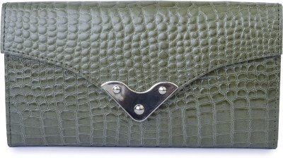 Klaska Women Casual Green  Clutch
