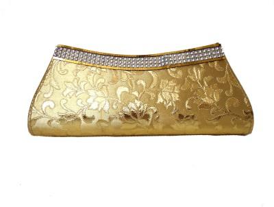 Modish Look Women Wedding Gold  Clutch