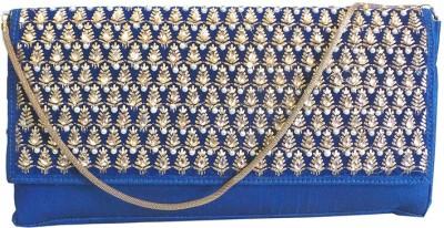 Bhamini Party Blue  Clutch