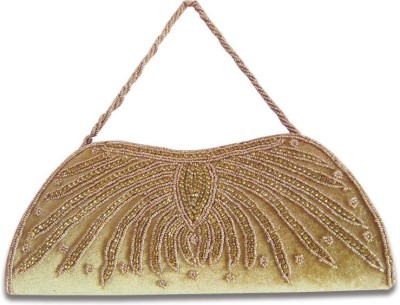 Linzina Wedding, Casual, Party, Festive Beige  Clutch