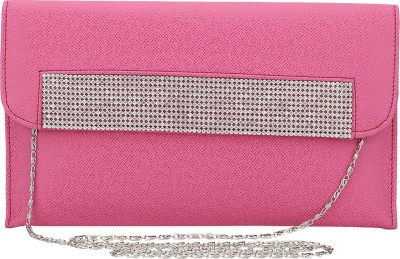 Spectrum Bags Casual, Party Pink, Silver  Clutch