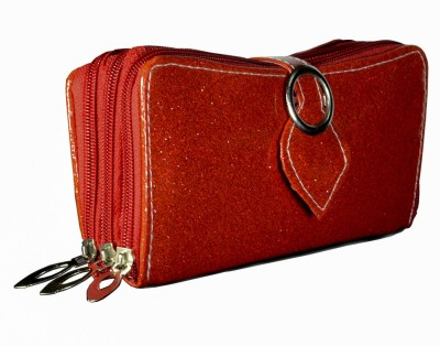 Magiq Women Casual, Formal Red Artificial Leather Wallet