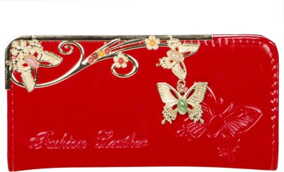 Fashion Leather Party Red  Clutch