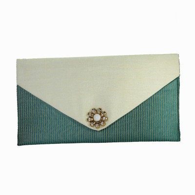 Arisha kreation Co Women Casual White, Green  Clutch