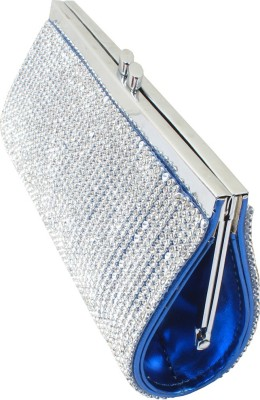 Dooda Party Blue  Clutch