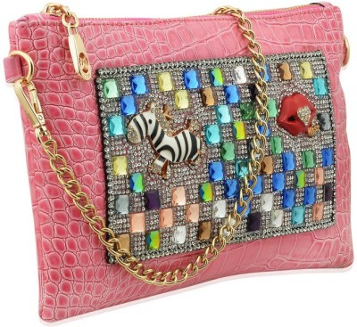 Artisan Crafted Party Pink  Clutch