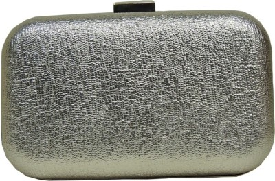 Mex Women Casual, Wedding Silver  Clutch