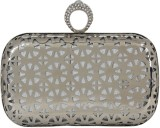 PamperVille Women Party Silver  Clutch