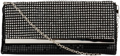 Swiss Design Women Party Black  Clutch