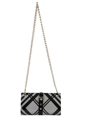 Bags Craze Women Casual Black, Grey  Clutch