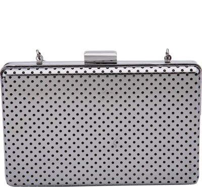 Fur Jaden Party Silver  Clutch
