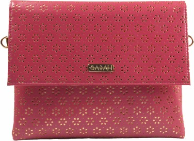 Sarah Wedding, Casual, Party, Formal Gold, Pink  Clutch