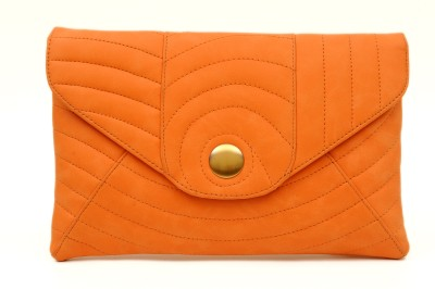 SG Collection Women Casual Orange  Clutch