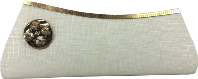 X-WELL Party, Wedding, Festive White  Clutch