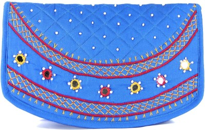 Womens Cottage Casual Blue  Clutch