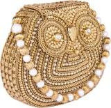 Shravyaarts Women Wedding Gold  Clutch
