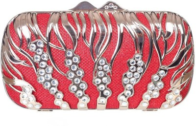 Aliza Women Formal Red  Clutch