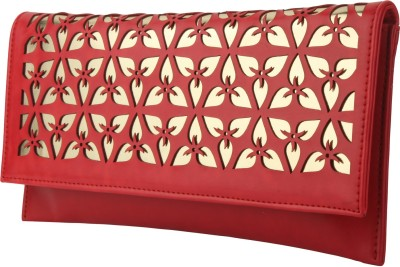Do Bhai Women Festive Red  Clutch