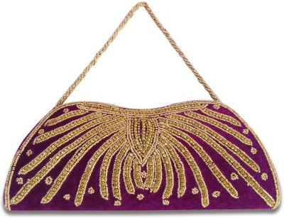 Linzina Wedding, Casual, Formal, Party, Festive Purple  Clutch