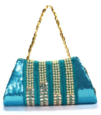 Arisha kreation Co Women Party Blue  Clutch