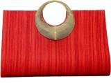 Pick Ur Bags Women Red, Gold  Clutch
