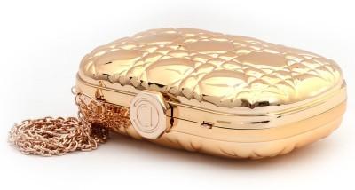 Fashnopolism Gold  Clutch
