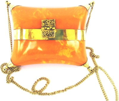 Hemshri Girls Festive Orange  Clutch
