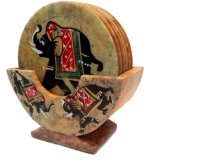 Chave Round Stone Coaster Set(Pack of 6)