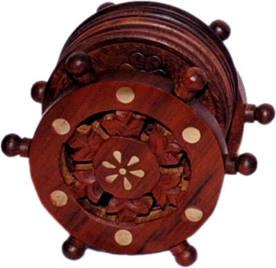 Decorhand Round Wood Coaster