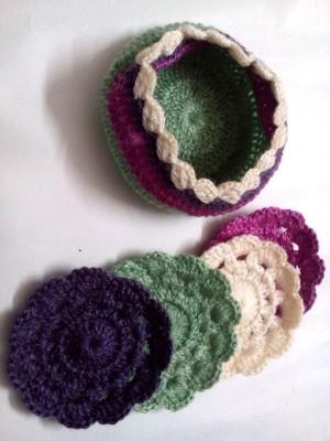 Expression Crafts Round Cotton Coaster Set