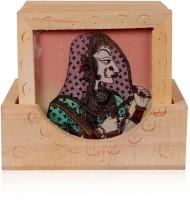 Rajwada Arts Square Gemstone Coaster Set(Pack of 6)