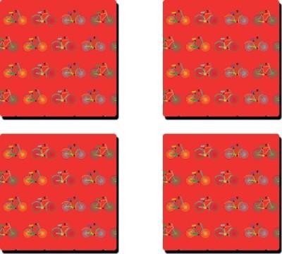 Keep Calm Desi Square Medium Density Fibreboard Coaster Set