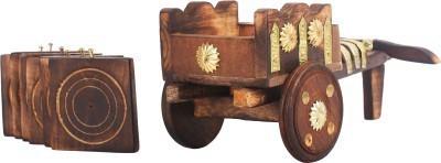 Craftatoz Rectangle Wood Coaster Set