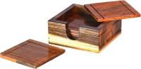 iravan Square Wood Coaster Set(Pack of 6)