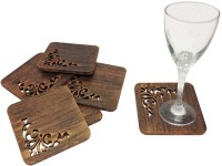 Butterfly homes Square Wood Coaster Set(Pack of 6)
