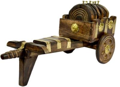 HanumantCreations Square Wood Coaster Set