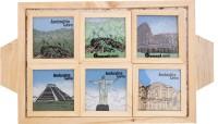 Artistic Handicrafts Square Wood Coaster Set(Pack of 7)