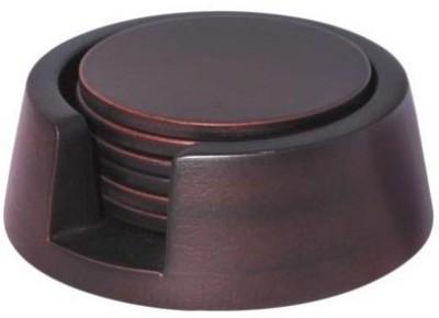 DSP Round Wood Coaster Set