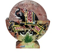 Real Seed Round Stone Coaster Set(Pack of 6)