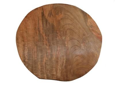 Gardenia Round Wood Coaster