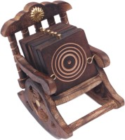 Royal Handicrafts Square Wood Coaster(Pack of 1)