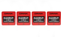 Its Our Studio Square Cork Coaster Set(Pack of 1)