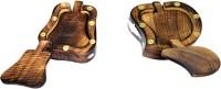 Craftatoz Square Wood Coaster Set(Pack of 12)